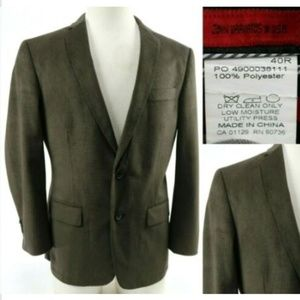 John Varvatos Men's Blazer Sport Coat Sz 40R Brown
